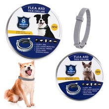 Pet Supplies Flea and Tick Collar for Dogs Cats Lices Flea Adjustable Collar Anti Mospuio and Instct Repellent for Pet 8 Month pet collar reflective pet bell collar adjustable size suitable for cats and small dogs pet supplies glow in the dark wholesale