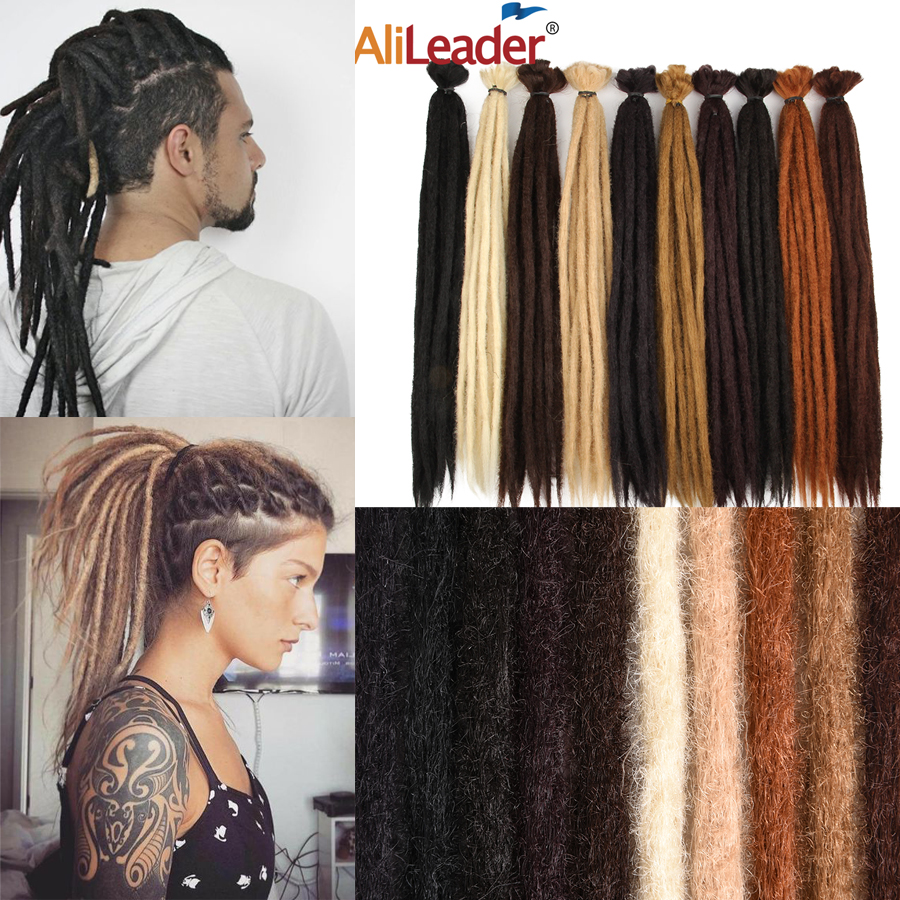 Alileader 20 Inches Handmade Dreadlocks Soft Crochet Hair Braiding Synthetic Long Braiding Hair Extension For Women