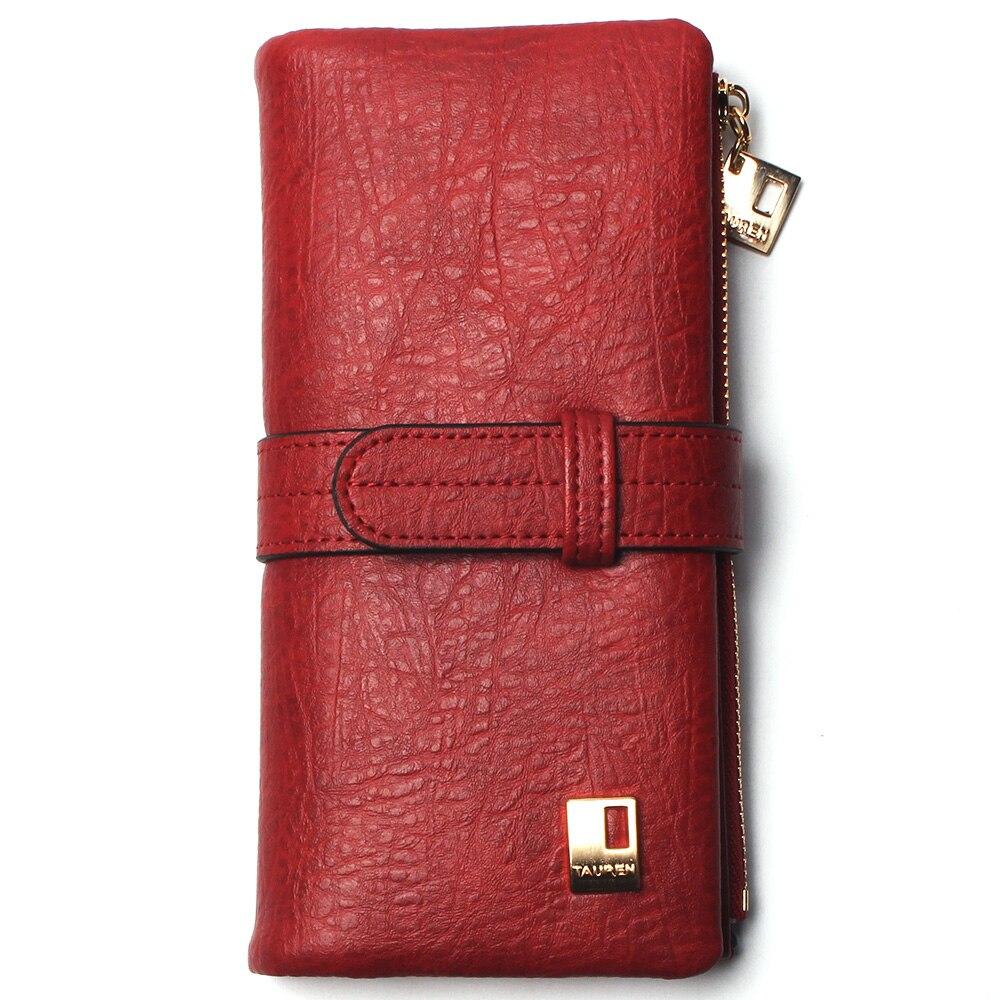 Теперь еще дешевле! Новые модные женские кошельки, кошелек из нубука на молнии, Женский Длинный дизайнерский кошелек, два сложения, много цветов, клатч - Цвет: Red