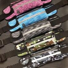 Outdoor Sport Waist Bags Running Belt Waterproof camouflage Jogging Men Women Gym Fitness Bag For iPhones Accessories 6