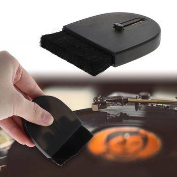 Cepillo de limpieza giradiscos LP vinilo reproductor registro Anti-estática limpiador polvo accesorio eliminador vinilo limpiador de discos giradiscos