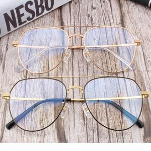 Image 5 - Pure titanium Prescription frame Pilot Mens Eyeglasses frame Ultra light  Vintage myopia glasses large titanium glasses frame