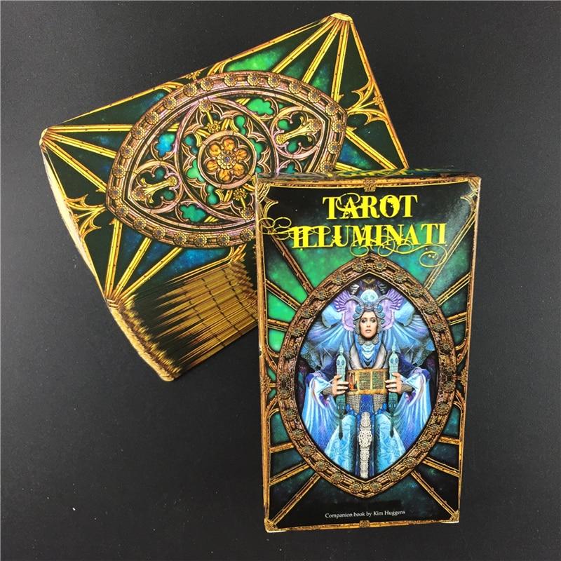 Tarot Illuminati Kit Cards Oracles Deck Card And Electronic Guidebook Tarot Game Toy Tarot Divination E-Guide Book