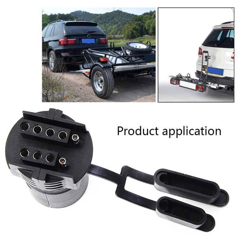 7 Pin Round To 4 Pin 5 Pin Flat Blade Trailer RV Boat Adapter Plug Simple Plug-and-play