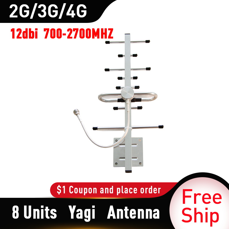 2g 3g 4g Antenna 12dBi Gain Yagi Antenna 700-2700mhz Outdoor Antenna 3G 4g Lte External Yagi Antenna With N Female
