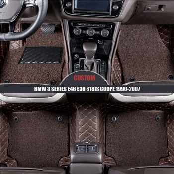 Custom Car Floor Mats For BMW 3 Series E46 E36 318is coupe 1990 2001 2004 2005 2006 2007 Custom foot Pads automobile carpet image