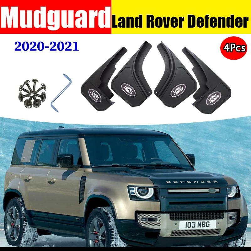 Брызговики автомобильные аксессуары для Land Rover Defender крыло брызговиков брызговик всплеск крылья передние и задние 4 шт. 2020 2021