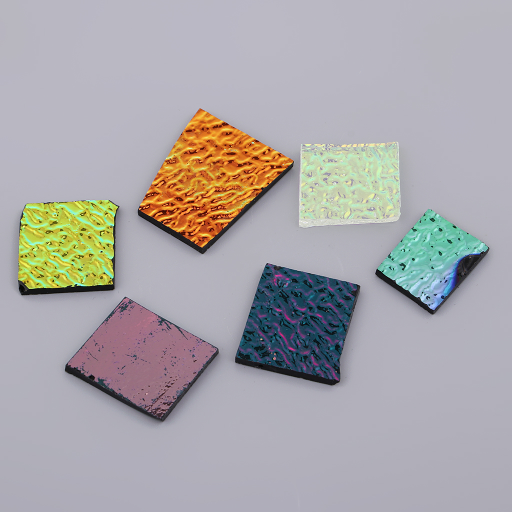 28g Assorted Dichroic Scraps Film COE 90 Fusible Glass Jewelry Making Crafts