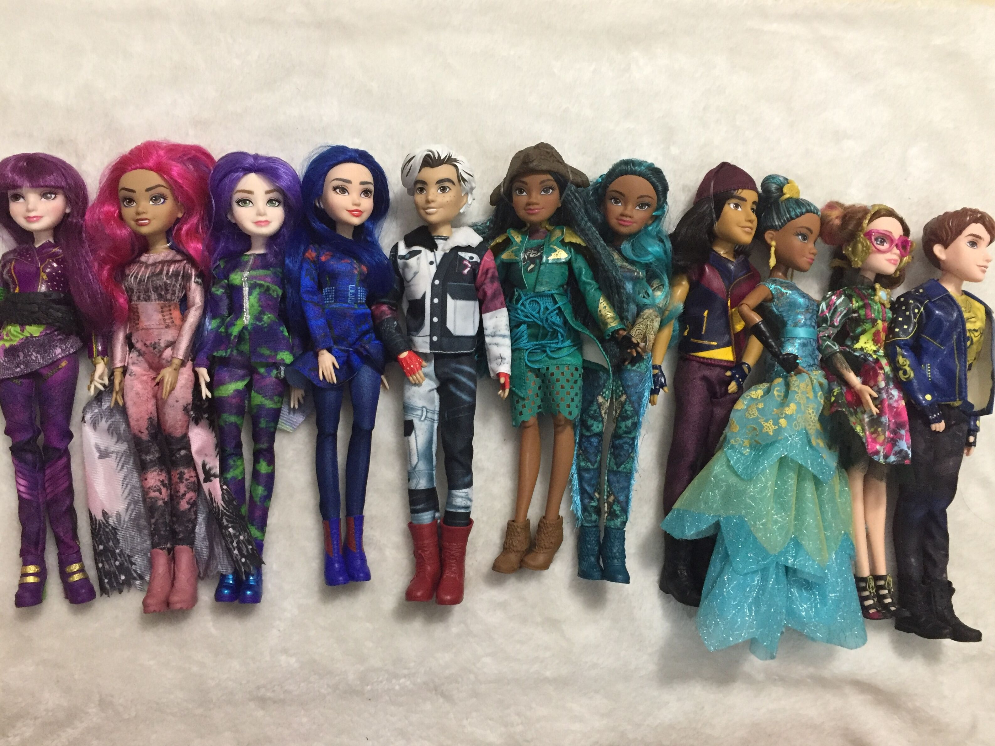 Original 11'' Descendants Doll Action Figure Doll Maleficent  Evie Mal Descendants 3 Kids Toy Carlos Joy