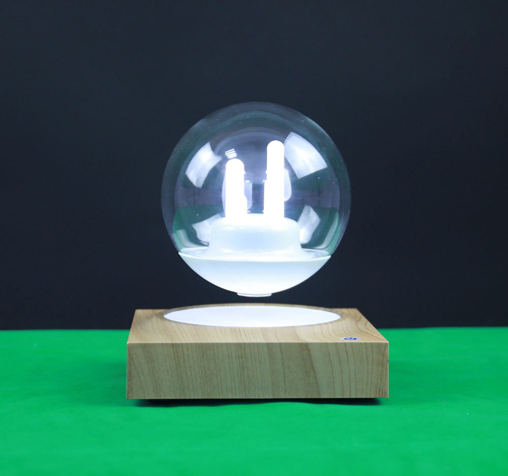 Magnetic Levitation Floating 3 Inch Glass Globe Rotated With Seven Color Night Light Festival Christmas Gift Home  Desk