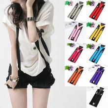 18 Colors Adjustable Elasticated Adult Y Shape Suspender Straps 3 Clips Suspenders Pants Braces Belt Straps Clothing Accessories