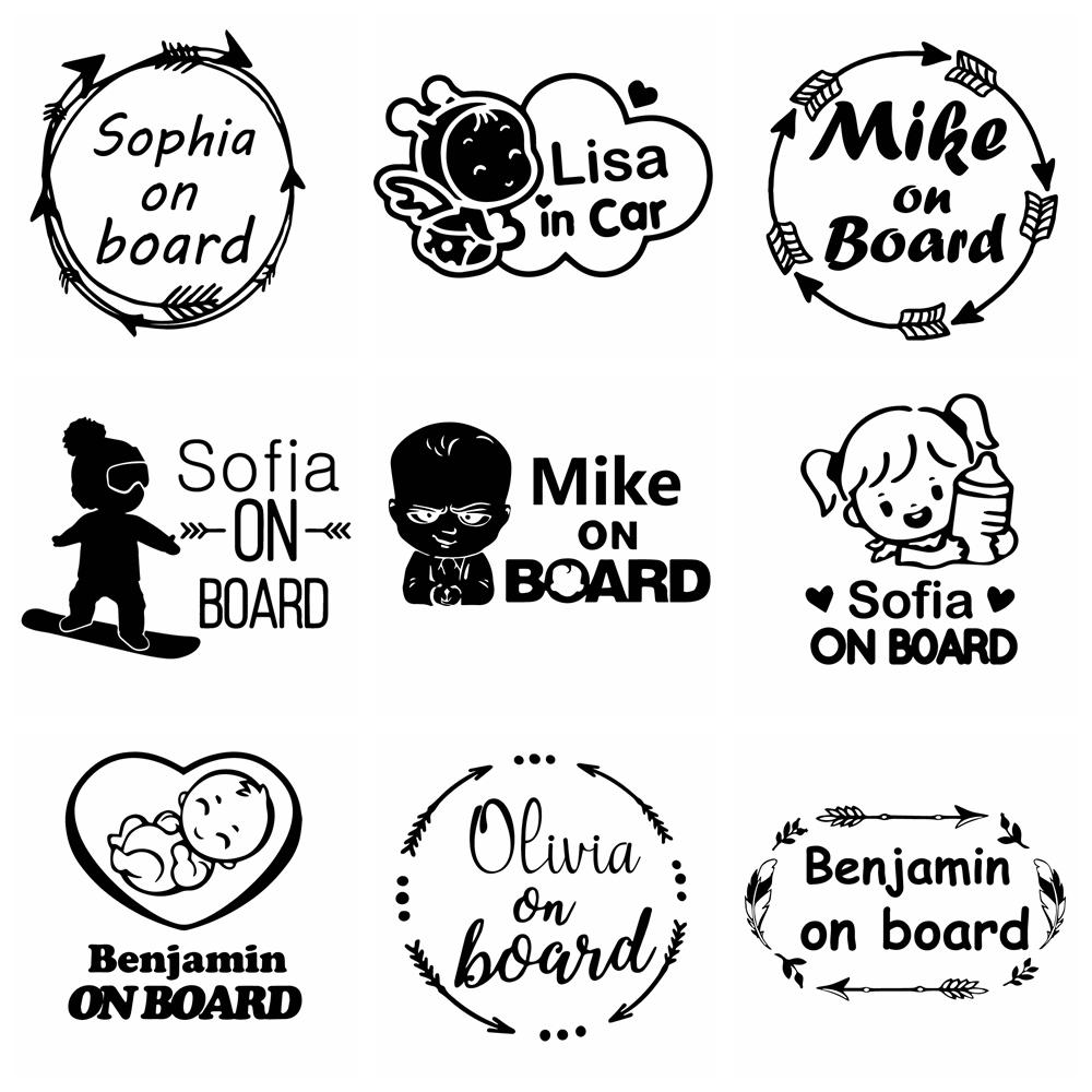 10 видов пользовательское имя детская настольная игра Смешные автомобильные наклейки виниловые наклейки для автомобилей средства ухода за ...