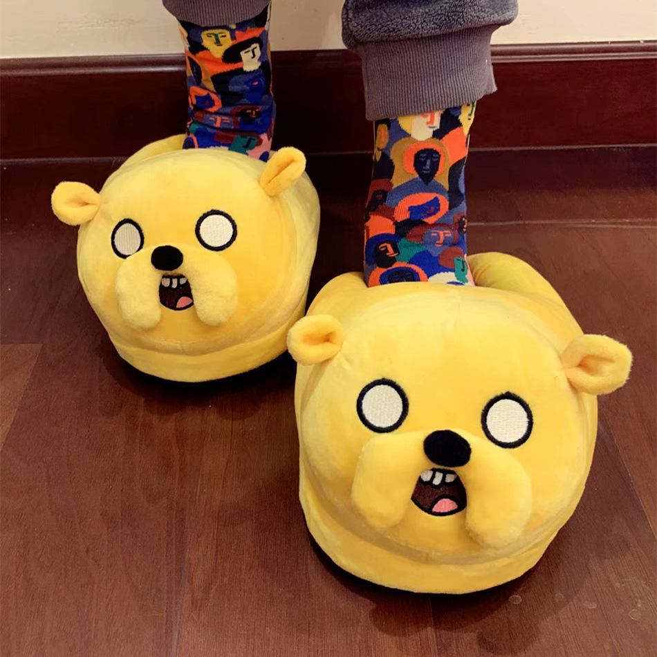 Woman Slippers Plush-Shoes Jake Adventure Finn BMO Home-House Warm Children Indoor Lovers title=