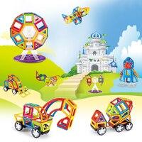 Juego de bloques de construcción magnéticos MAGBROTHER 114 Uds.  azulejos educativos  diseño magnético  juguetes de construcción  conjunto para niños Gfit