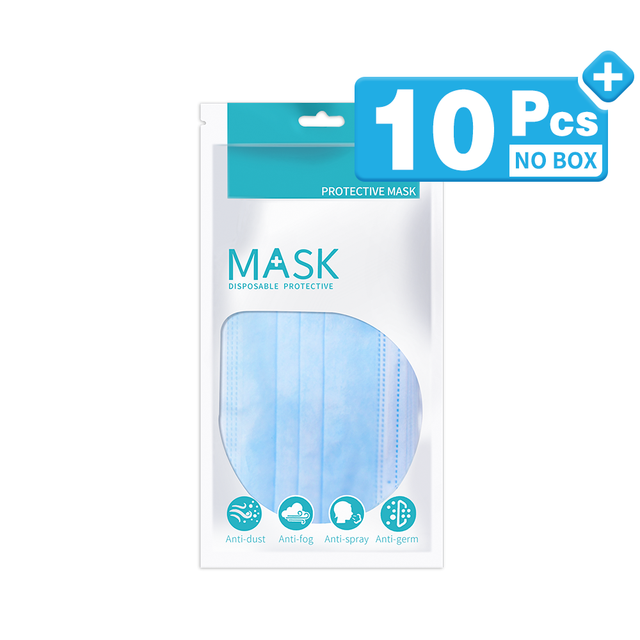 3 Laye Mask dust protection Masks Disposable Face Masks Elastic Ear Loop Disposable Dust Filter Safety Mask Anti-Dust 4
