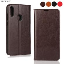 For Asus Zenfone Max Pro M2 ZB631KL Case Luxury Premium Genuine Leather Wallet Phone Case Folio Book Design with Kickstand for Asus M2 ZB631KL Protective Flip Cover цена 2017