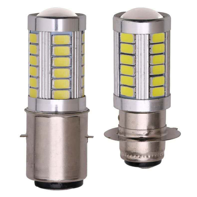 1PCS BA20D 5630  660LM LED Motorcycle Headlight Bulb 12V Motorbike Front Fog Head Light Lamp