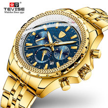 2020 Tevise Luxury Fashion Mechanical Watch Automatic Man Watches Casual Waterproof Gold Clock Masculino Relogio 2017 shenhua gold hollow automatic mechanical watches men luxury brand leather strap casual vintage skeleton watch clock relogio