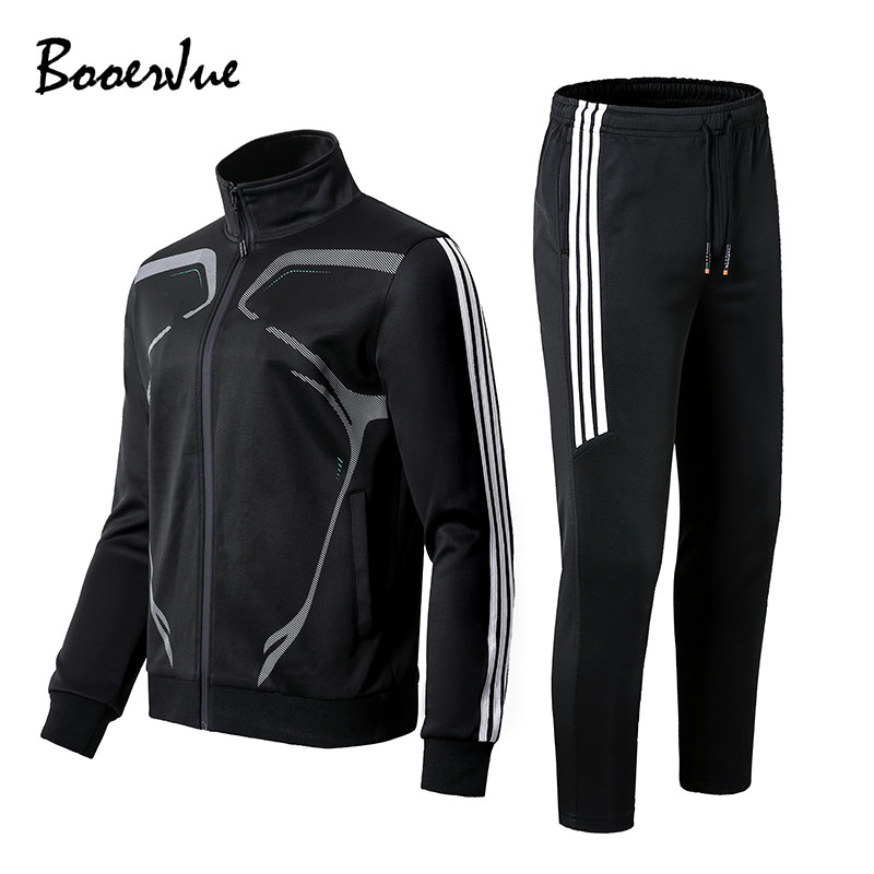 Tracksuit Men's Casual Tracksuit Sets Sweatshirts Pullover Two Piece Sweatshirts +Pants Winter Sets Brand Clothing Men Outfit