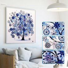 Diamond Embroidery Winter Flower Tree Special Shaped Painting Needlework Rhinestone 5d Drill DIY Crystal