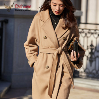 цена на Wool woolen coat female 2020 autumn and winter new classic double-breasted long wool coat warm thick coat coat female Plus Size