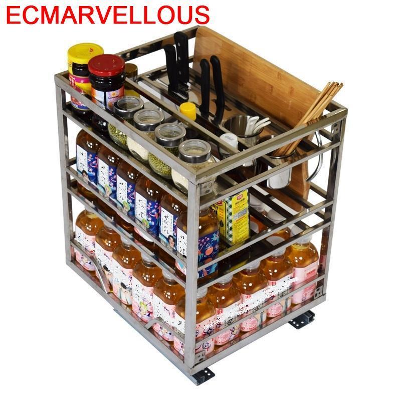 Permalink to Armario Pantries Cocina Organizador Despensa Gabinete Stainless Steel Cozinha Organizer Cuisine Kitchen Cabinet Storage Basket
