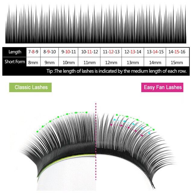 Yelix Easy Fan Volume Lashes Auto Bloom Individual Eyelash Extension Faux Mink  Eyelashes Thick Natural Camellia False Eyelashes 3
