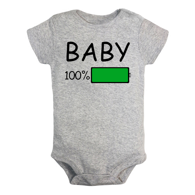 Funny Baby 100% Battery Mini Boss Ctrl+c Newborn Baby Girl Boys Clothes Short Sleeve Romper Jumpsuit Outfits 100% Cotton Present