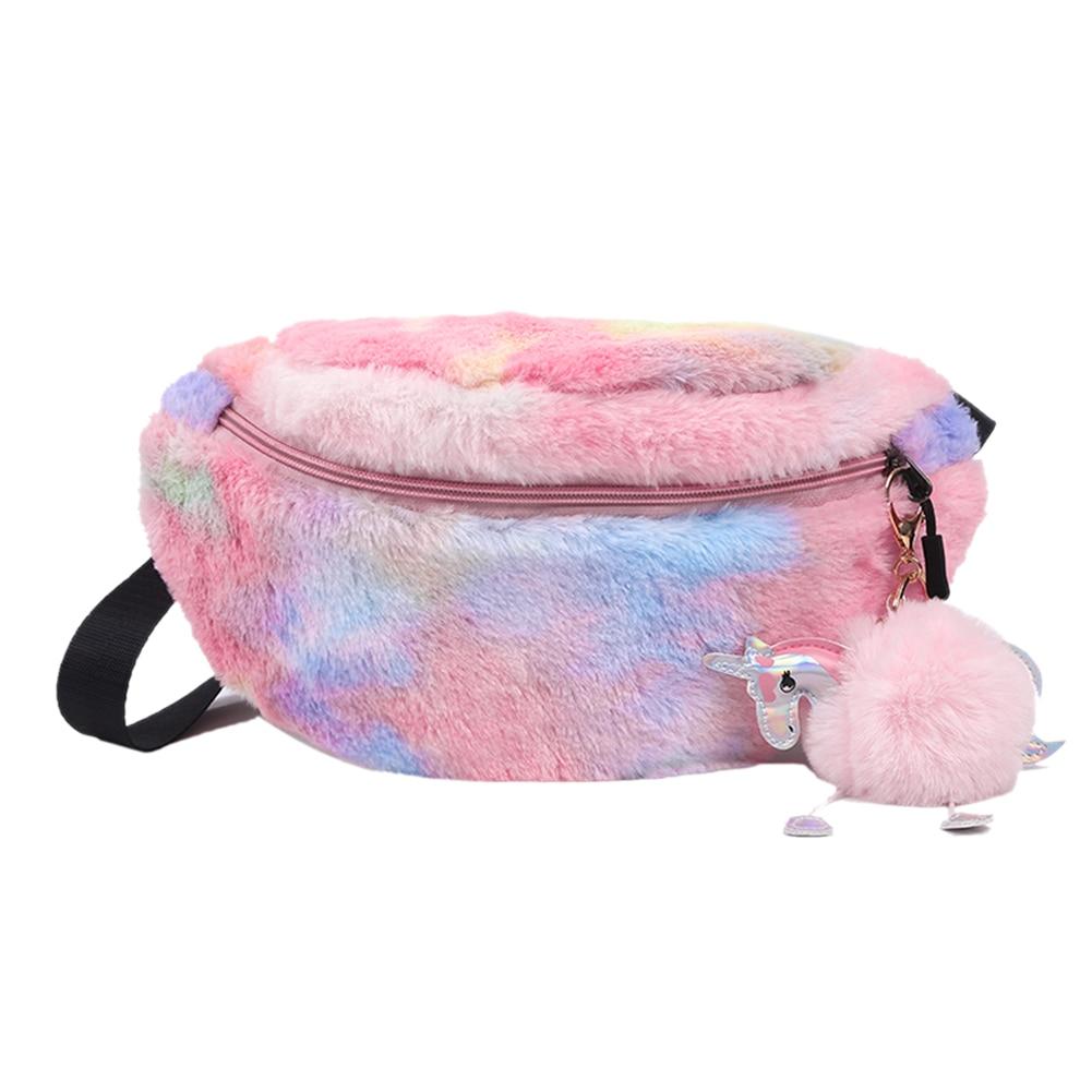 Fashion Wool Belt Bag Phone Waist Packs Pure Color Female Women Designer Pack Shoulder Messenger Belt Chest Bags Bolsas Feminina