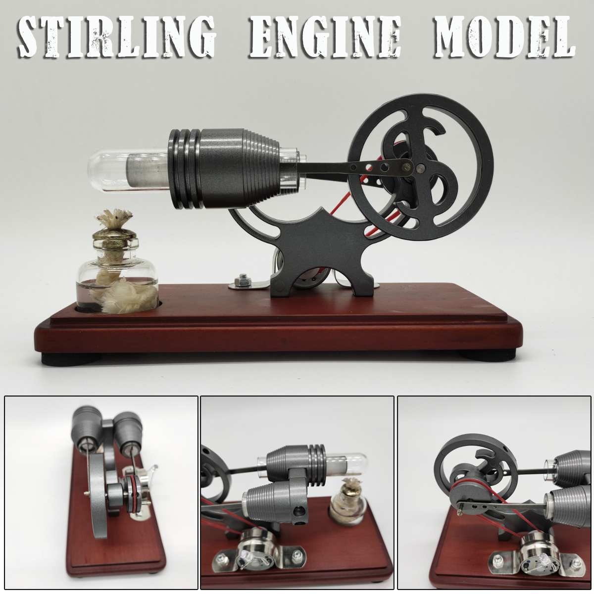 NEW Hot Air Stirling Engine Model Electric Generator Motor Physics Steam Power Education Toy Science Experiment Kit Set