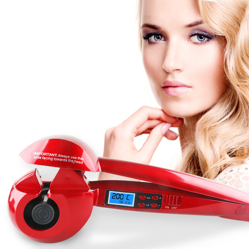 WX LED Automatic Curling Iron Ceramics Hair Curler Curling Wand Female Hair Styling Tools Hair Crimper Flat Iron Curly Iron Curl
