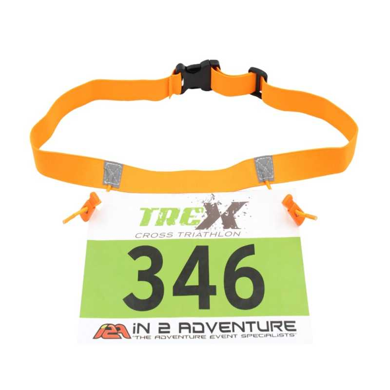 حقيبة للركض بحزام على شكل رقم سباق الماراثون للرجال والنساء ، حامل قماش للمريلة ، حقيبة للركض مع 6 حلقات من الجل Startnummernband