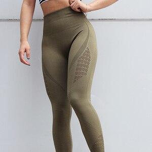 Image 1 - חותלות דחיסת מכנסיים אצן נשים כושר סופר נמתח תרגיל מכנסיים מכנסיים חותלות חלקה בטן בקרה