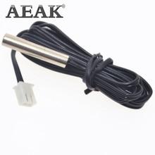 50 см 1 м 2 м 3 м NTC термистор датчик температуры водонепроницаемый зонд провод 10 к 1% 3950 W1209 W1401 кабель AEAK
