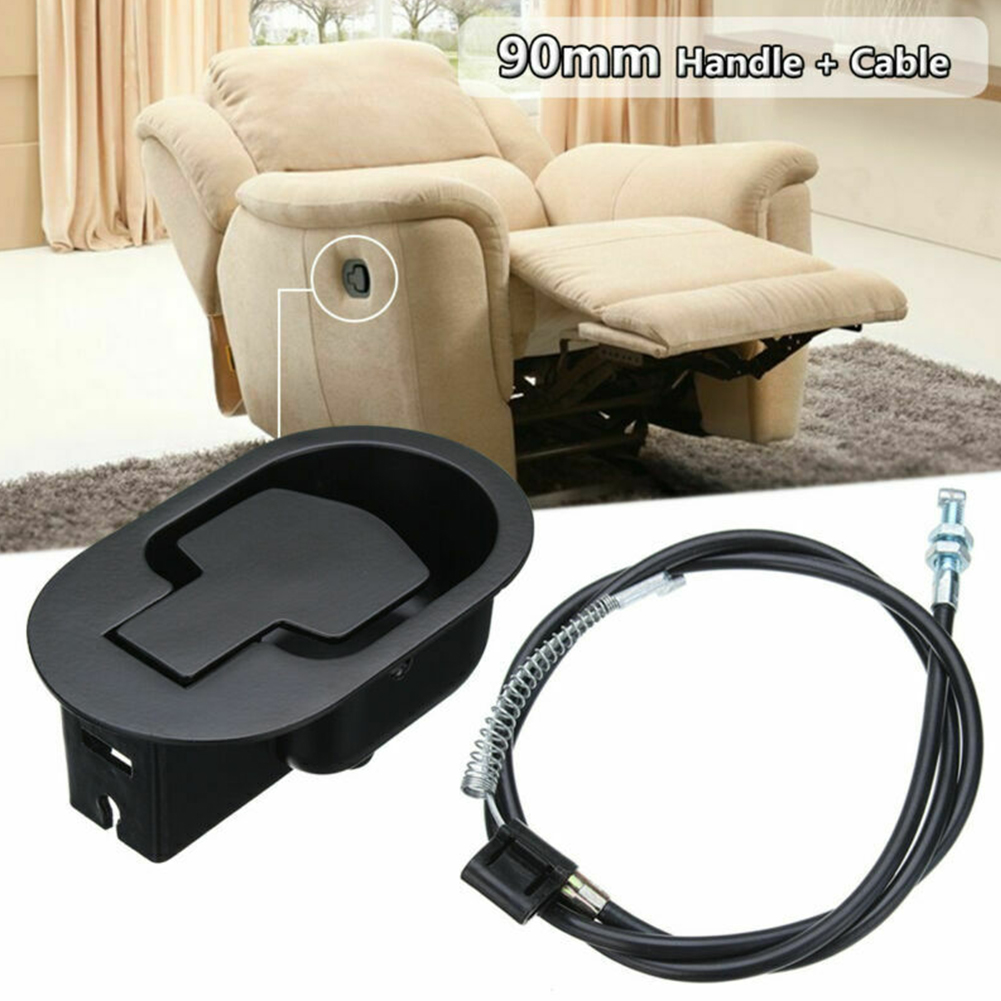 Cable Sofa Recliner Handle Set Replacement Metal Smooth Hardware Wide Use Trigger Chair Home Easy Install Release Lever
