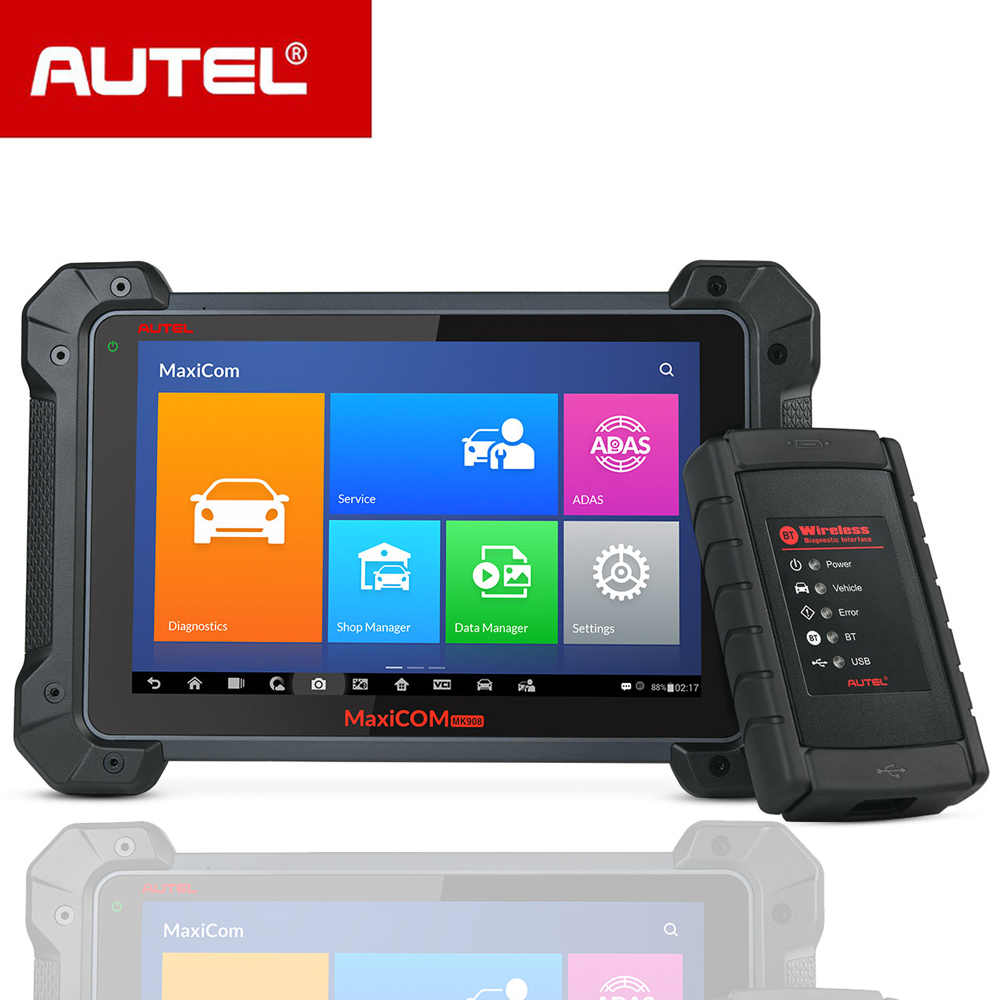 Autel Maxicom MK908 Code Reader Car Diagnostic Tool OBD2 Scanner Ferramentas Automotivas Para Carros Auto Scanner