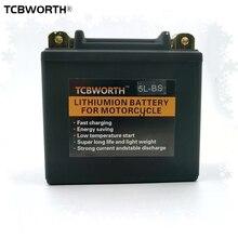 TCBWORTH 5L-B 5L-BS 12V мотоциклов лития старта Батарея 5Ah CCA180A скутер ионных Батарея вездеходы литий-железо-фосфатный заменить YTX5L-BS