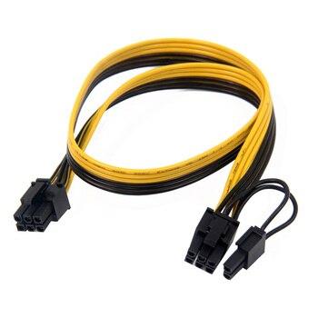 XT-XINTE PCIe 6Pin do 8(6 + 2) Pin kabel zasilający PCI Express karta graficzna kabel zasilający z męskiego na męskie portu