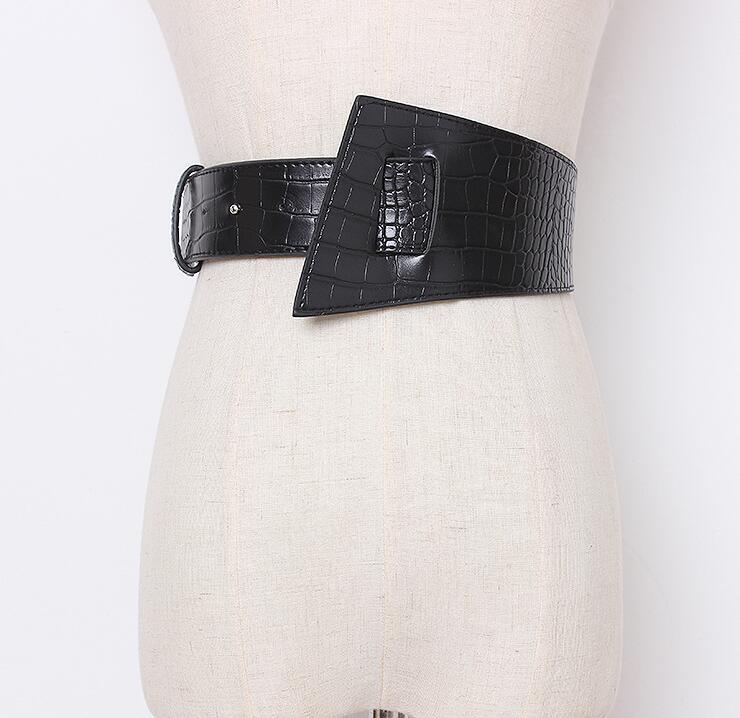 Women's Runway Fashion Pu Leather Cummerbunds Female Vintage Dress Corsets Waistband Belts Decoration Wide Belt R2173