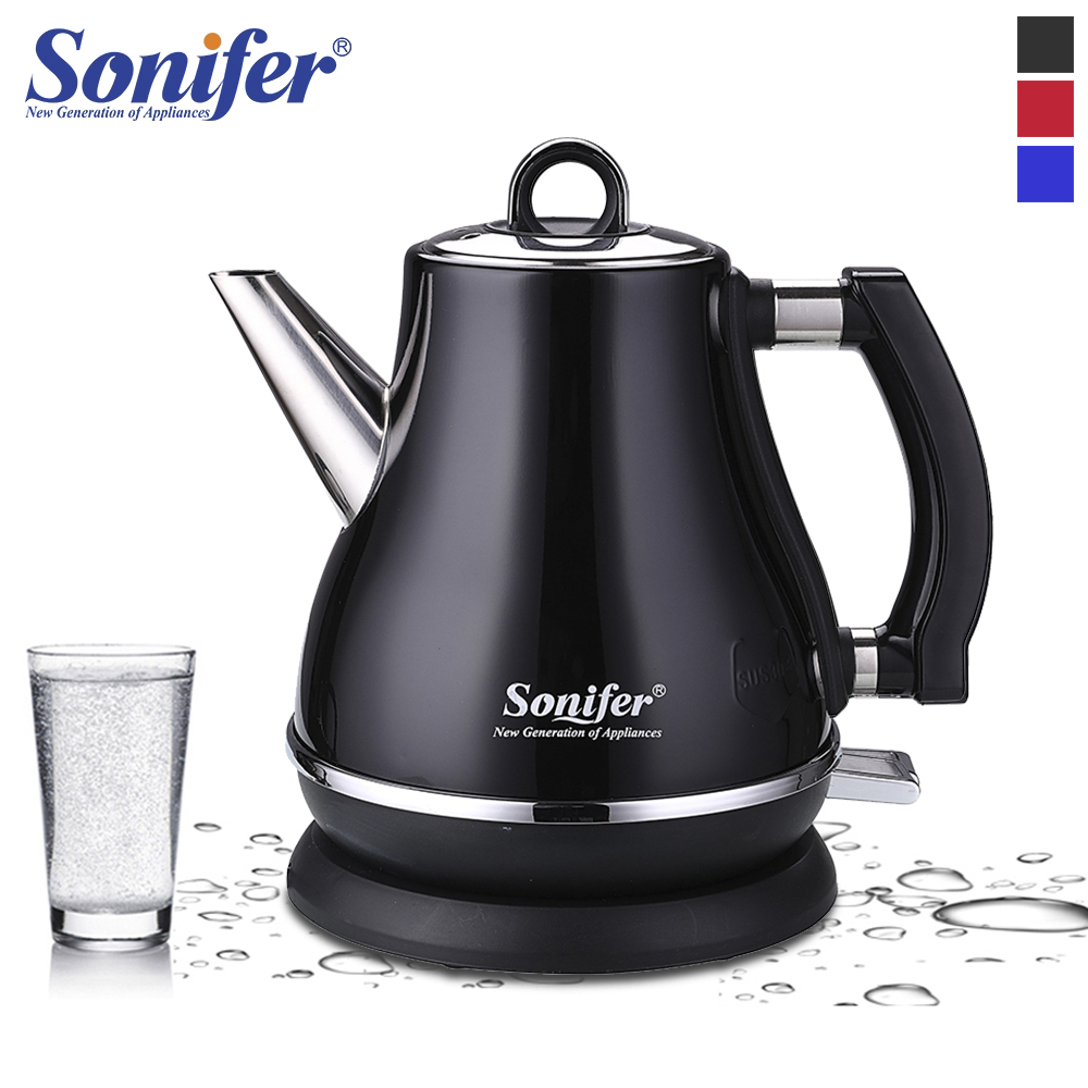 1.2L Colorful 304 Stainless Steel Electric Kettle 1500W Household 220V Quick Heating Electric Boiling Tea Pot Sonifer