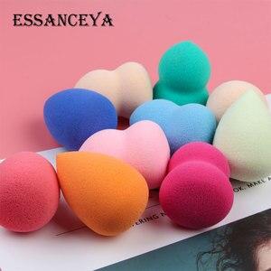 Image 5 - ESSANCEYA, Color aleatorio, 1/4/5/10 uds, paquete, base de maquillaje esponja, conjunto de brochas de maquillaje, polvo, belleza suave, cosmética, herramienta de maquillaje