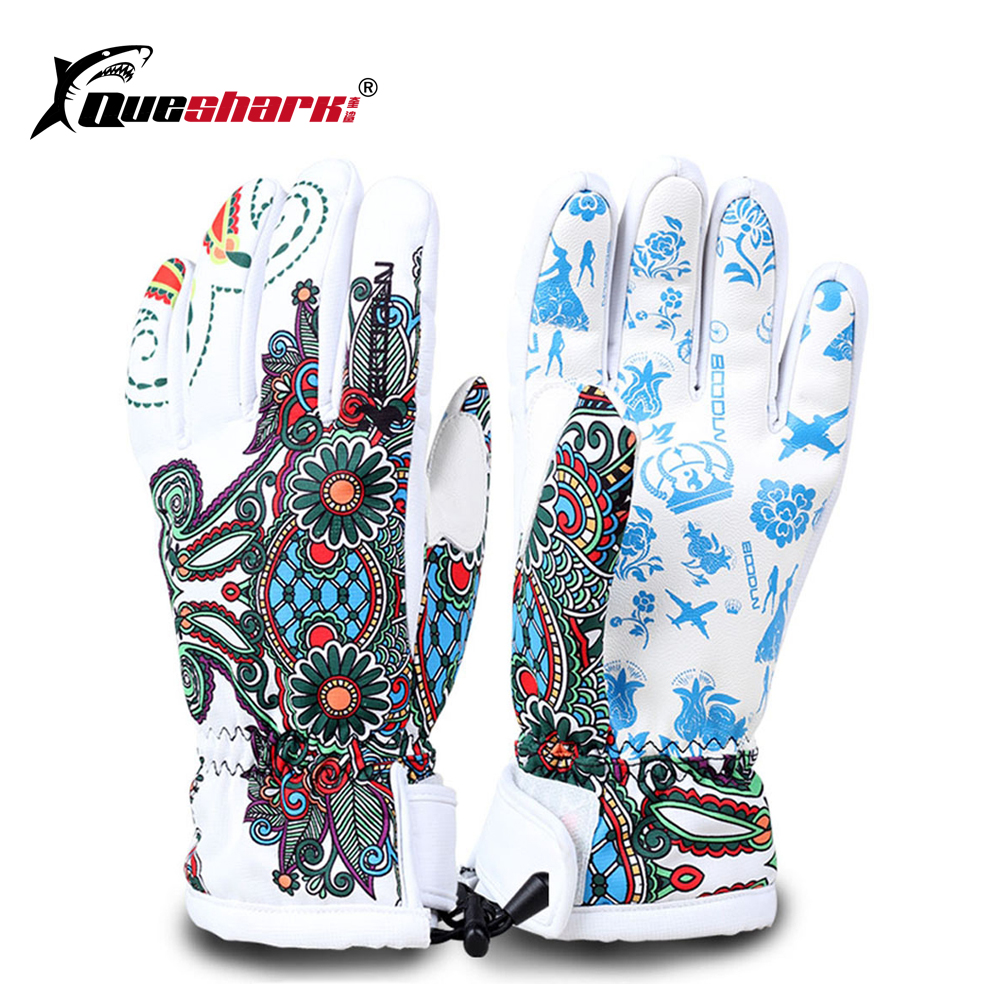 Women Children Waterproof Ski Gloves Winter Motorcycle Cycling Gloves Windproof Snowboard Handwear Fleece Thermal Skiing Gloves