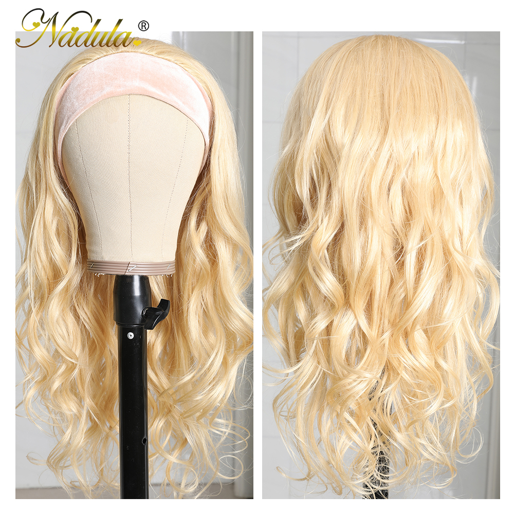 Nadula Headband Wig  Body Wave Honey Blonde  Headband Wig  Natural Wave Pre Plucked  5