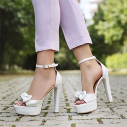 MST-1001 White Leather Women pumps fashion high heels shoes Black Pink yellow shoes women bride Womens
