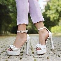 Mst 001 White Leather Women pumps fashion high heels shoes Black Pink yellow shoes women bride Women's