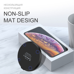 Image 4 - 15W Qi Wireless Charger for iPhone X 11pro USB Quick Fast Charging Desktop pad for Samsung S10 Mobile Phone SIKAI