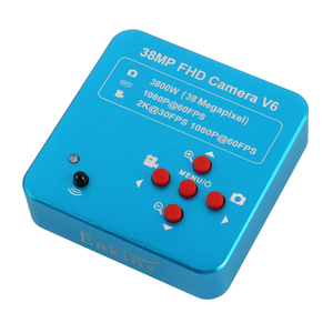 Image 4 - 3.5X 90X 더블 붐 스탠드 줌 Simul 초점 Trinocular 스테레오 현미경 + 38MP 2K HDMI USB 산업용 카메라 전화 PCB 수리