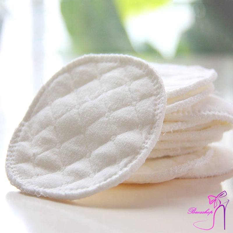 12 Pcs Reusable Breast Feeding Nursing Breast Pads Washable Soft Absorbent Baby Supplies