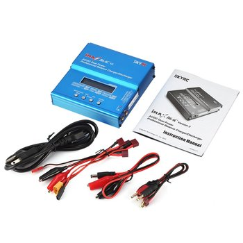 SKYRC iMAX B6AC V2 6A 50W AC/DC Lipo NiMH Pb Balance Charger/Discharger with Adapter LCD Display for RC Car Drone Helicopter