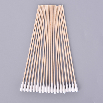 100pc Cosmetic Cotton Swab Cotton Buds Tip Medical Ear Care Wood Sticks Disposable Wood Cotton Swab Eyelash Extension Tools